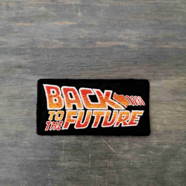 Parche back to the future logo
